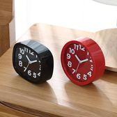 鬧鐘 創意學生兒童鬧鐘床頭座鐘台鐘電子個性時鐘工藝鐘客廳小擺件鐘錶  萬聖節禮物