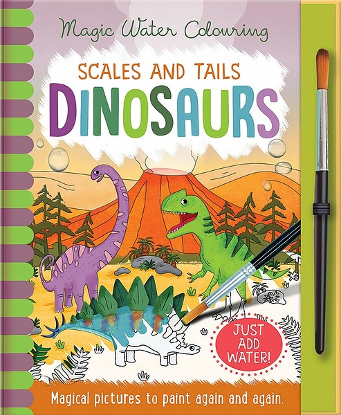 Magic Water Colouring:Scales And Tails Dinosaurs 恐龍變色畫冊