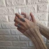 復古泰銀戒指韓國氣質簡約創意樹葉指環夸張開口男女戒指【叢林之家】