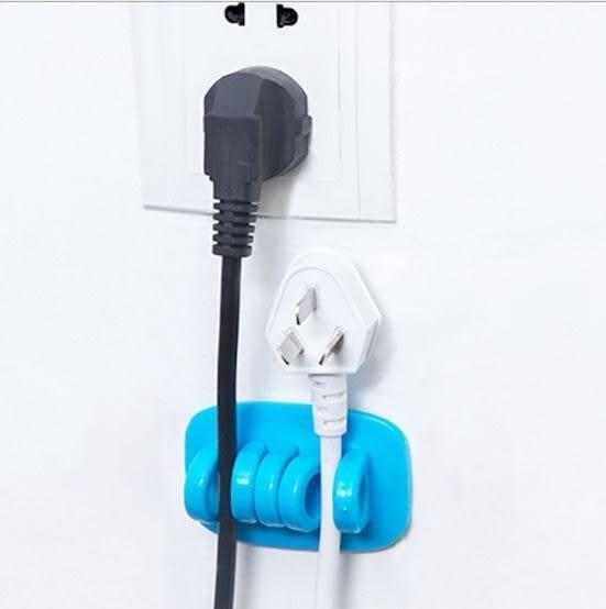 電線整理固定器/集線器卡扣理線器 (隨機色)單入