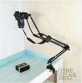俯拍支架單眼相機架攝像頭監控架子攝影獨腳架桌面床頭投影架CY 自由角落