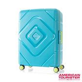 AT美國旅行者 24吋Trigard 菱格設計PP三點式扣鎖飛機輪行李箱(水藍)