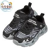 《布布童鞋》SKECHERS_S_LIGHTS疾迅黑灰兒童電燈運動鞋(17~23.5分) [ N0W106D ]