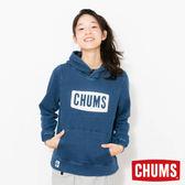 CHUMS 日本 女 LOGO 兜帽套頭衫 Indigo丹寧藍 CH101097N030