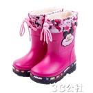 兒童雨靴 兒童雨鞋男童女童兩用水靴防滑寶寶雨靴時尚卡通可愛水鞋中 快速出貨