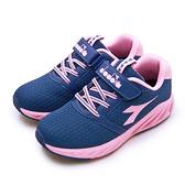LIKA夢 DIADORA 迪亞多那 22cm-24.5cm 輕量4E寬楦慢跑鞋 BREATHE氣動系列 藍粉 11011 大童