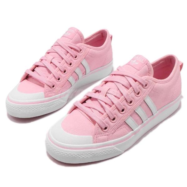 【五折特賣】adidas 休閒鞋 Nizza W 粉紅 白 帆布鞋面 基本款 女鞋 運動鞋【ACS】 CQ2539