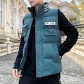 保暖馬甲外套男-馬甲男士秋冬季韓版潮流衣服保暖背心加厚工裝馬夾羽絨棉外套 多麗絲