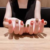 雨奈指甲成品 美甲成品 指甲貼 美甲成品 美甲貼南瓜色蜂蜜 盛夏 茱莉亞