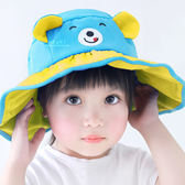 夏日小熊繽紛大寬簷遮陽帽 遮陽帽 兒童 寬簷帽 防曬 可捲式 摺疊 攜帶方便