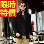 毛呢外套-羊毛特殊剪裁溫暖短版男風衣大衣3色62n77[巴黎精品]
