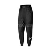 Nike 長褲 NSW Woven Swoosh Trousers 黑 白 女款 風褲 工裝 運動休閒 【ACS】 CJ3777-010