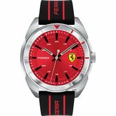 Scuderia Ferrari 法拉利 FORZA 競速手錶-紅x黑/44mm FA0830543