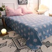 床罩 加厚磨毛單件床單單雙人床笠簡約條格床套1.5 1.8 2.0M【全館滿888限時88折】home
