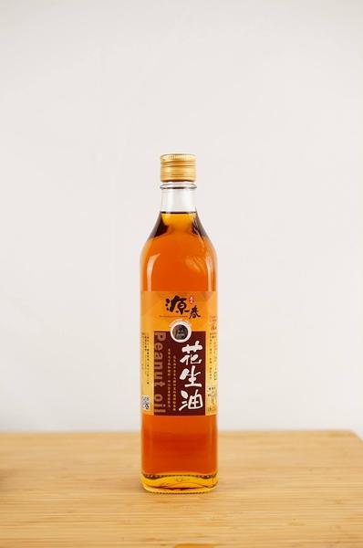 【源春油廠】梅山70年老店 花生油 500ml