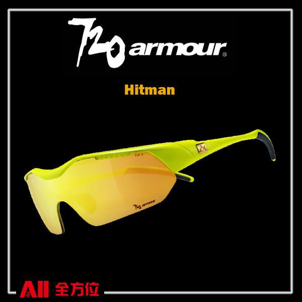 預購品【720Armour】720 Hitman (Asian-Fit) 系列 運動太陽眼鏡  黃/金(T948B222H) 全方位跑步概念館