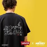 Levis X Disney 合作系列 男款 短袖T恤 / 寬鬆休閒版型 / 精工米奇與好友刺繡