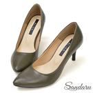訂製鞋 OL首選簡約尖頭高跟鞋-綠