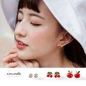 《ZC1173》可愛水果三組式耳環 OrangeBear