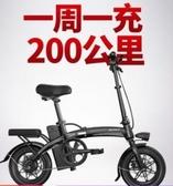 斯洛克新國標摺疊電動自行車鋰電池代步小型代駕電瓶電動車助力車LX 雲朵走走