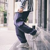 714street18AW 亞麻寬鬆工裝 長褲男 休閒直筒褲 棉麻褲子男 潮 極簡雜貨