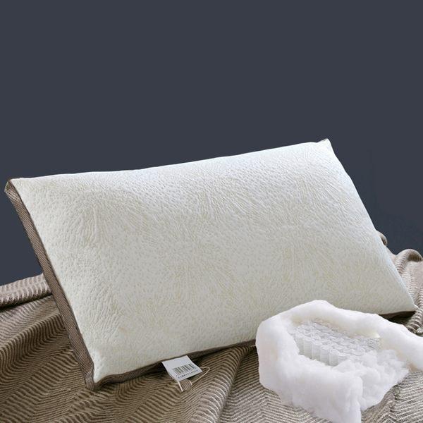 獨立筒彈簧羊毛枕頭/二入【台灣製造 40顆獨立包裝彈簧 喀什米爾羊毛 高支撐回彈好 】(A-nice) aq