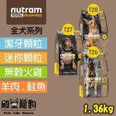 【殿堂寵物】nutram紐頓 無穀全能系列  T26/T27/T28 潔牙/迷你顆粒 1.36kg
