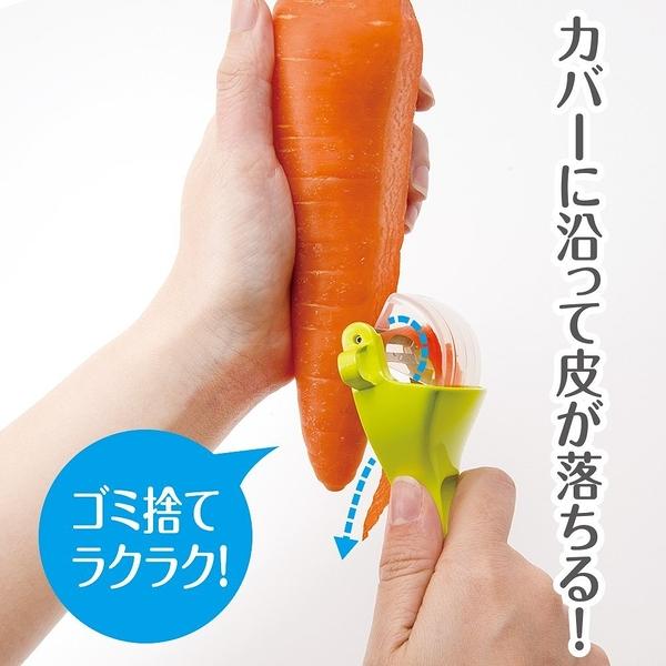 不飛散果皮削皮器 削皮刀 日本正版 該該貝比日本精品 ☆