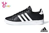 adidas GRAND COURT 成人女款 經典三線造型 穿搭 板鞋 運動休閒鞋 Q9370#黑白◆OSOME奧森鞋業
