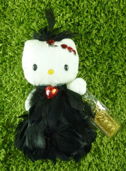【震撼精品百貨】Hello Kitty 凱蒂貓~KITTY絨毛娃娃-千喜年限量版娃娃-黑毛