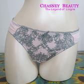 Chasney Beauty-Stroller優雅S-L蕾絲丁褲(紫粉)