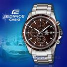 CASIO手錶專賣店 CASIO EDIFICE 速動風潮三眼男錶_EFR-526D-5A_經典內斂三眼賽車腕錶_咖啡面