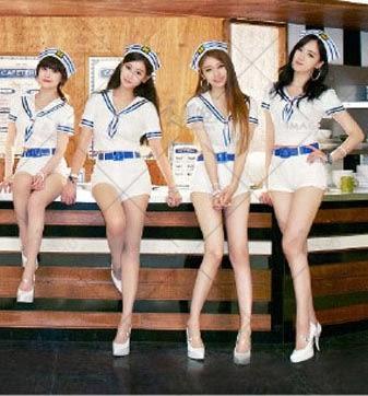 衣美姬♥韓國女團 同款演出服 水手服 角色扮演 啦啦隊服裝 舞台裝 表演套裝