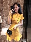 2021夏天流行裙子新款小個子修身顯瘦收腰氣質性感洋裝夜店女裝  【韓語空間】