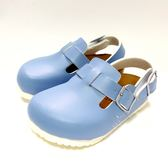 台灣WONDER GO 馬卡龍色系 簡約前包涼鞋 《7+1童鞋》D001藍色