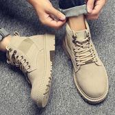 馬丁靴男冬季加絨保暖棉鞋英倫中幫男鞋工裝靴子雪地潮鞋高幫軍靴 街頭潮人
