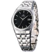 CYMA 極簡知性時尚薄型錶(黑)