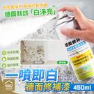 直噴式水性牆面修補漆 450ml 漆膜均...