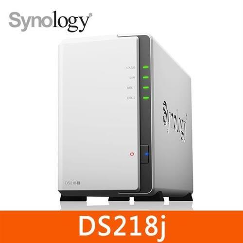 Synology DS218j 2Bay 網路儲存伺服器