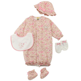 【愛的世界】鋪棉印花兩用嬰衣禮盒/3~6個月-台灣製- ★禮盒推薦