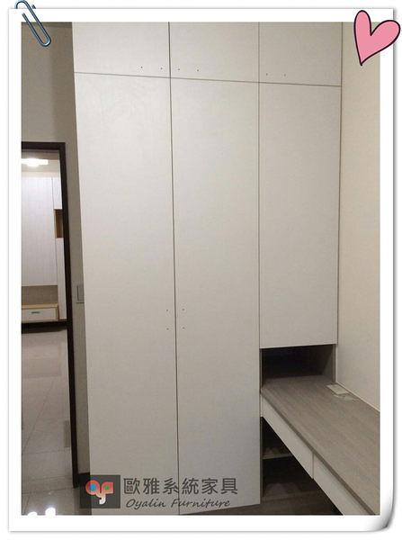 【系統家具】白色淺色系衣櫃 &床頭櫃 結合設計 特價 39279