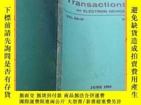二手書博民逛書店英文書罕見ieee transactions on electron devices june 1989 ieee