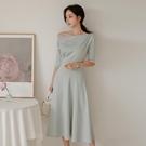 職業洋裝 職業連身裙ol氣質女神風衣服女夏名媛修身顯瘦知性女裝-Ballet朵朵