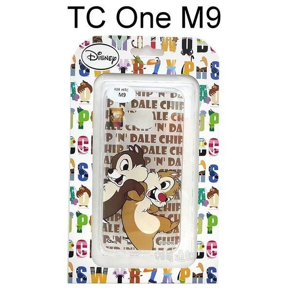 迪士尼透明軟殼 TC One M9 [LOGO] 奇奇蒂蒂【Disney正版授權】