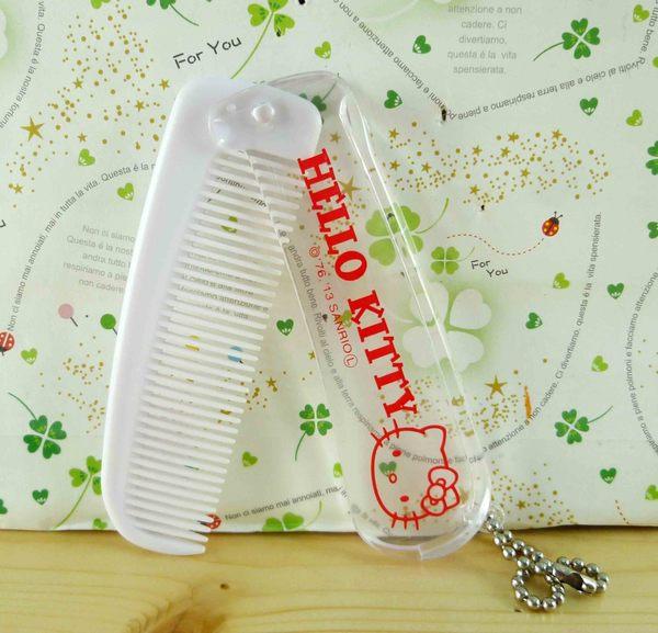 【震撼精品百貨】Hello Kitty 凱蒂貓-KITTY摺疊梳/隨身梳-紅白