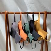 夏季新款韓版吊帶內搭U型美背打底抹胸背心女外穿帶胸墊上衣INS潮