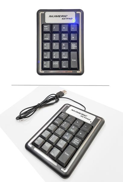 銀狐-19鍵USB數字鍵盤