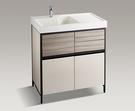 【麗室衛浴】KOHLER MAXISPACE 2.0 浴櫃盆組 – 奶茶米色(80CM) K-23799T-MT9_K-24369T-1