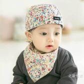 嬰兒帽子春秋純棉海盜帽6-12-24個月男女兒童帽秋冬寶寶套頭帽潮