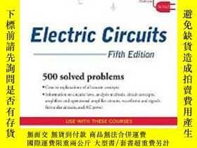 二手書博民逛書店Schaum s罕見Outline Of Electric Ci